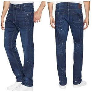 Sean John Five-pocket Jeans with Paint Splatter